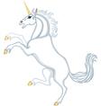 Cartoon heraldic unicorn vector image