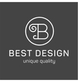 Monogram letter B in the minimalism background vector image