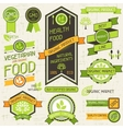 Organic food banners Set of labels and stickers vector image