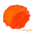 orange and red watercolor circle vector image