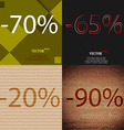 65 20 90 icon Set of percent discount on abstract vector image