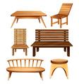Wooden furniture vector image