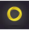 Golden segmented circle icon vector image
