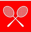 Tennis racquets sign vector image