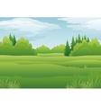 Landscape summer forest vector image