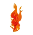 Orange flame icon Fire concept graphic vector image