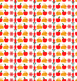 pattern with cute cartoon bunny and carrot vector image