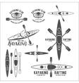Set of vintage rafting labels vector image