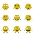 smile icon set vector image