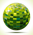 abstract 3d green sphere vector image vector image