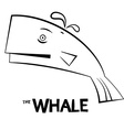 Whale - Outline Fish Isolated on White Background vector image vector image