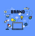 brand graphic for business concept vector image