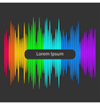Digital abstract equalizer Multicolored waveform vector image