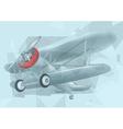 biplane in the sky vector image