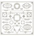 Set of vintage ornament design elements vector image