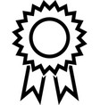 award ribbon line icon vector image