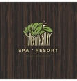 Logotype for spa resort or beauty business vector image