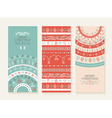 Merry christmas new year holiday doodle banner set vector image
