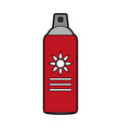 sunscreen bottle icon image vector image