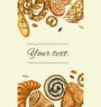 Bakery vertical banner vector image