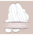 Paper background with pointe shoes vector image vector image
