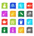 garden tools simply icons vector image