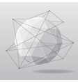 White globe geometrical background vector image