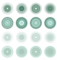 High quality rossete elements vector image vector image