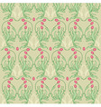 floral textile design vector image vector image