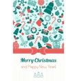 Vintage vertical christmas card Typography Flat vector image