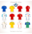 France EURO 2016 Apparel Icons vector image