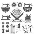 Set of vintage tailor labels badges and design vector image