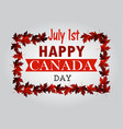 Leaf line canada day card in vector image