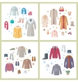 Outerwear Mens and Womens Set of Clothes Accessory vector image