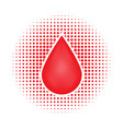 red human blood drop vector image