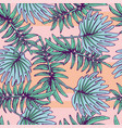 summer colorful hawaiian seamless pattern with vector image