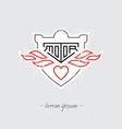 Vintage motorcycle labes badge shield or design vector image