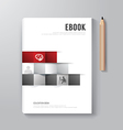 Cover Book Digital Design Minimal Style Template vector image vector image