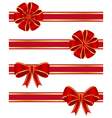 red bows vector image vector image