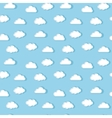 White clouds pattern vector image