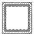 Stylish black frame vector image vector image