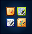 app icon drawing tools vector image