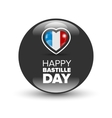 Happy Bastille day badge vector image