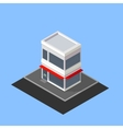 isometric store building vector image