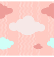 Pink Clouds Pattern Background vector image