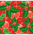 seamless background with holly vector image