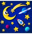 Space planets and stars vector image