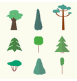 trees icons2vs vector image