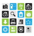 Black Simple Internet and Website Icons vector image