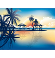 Relaxing in hammock on a tropical beach vector image